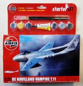 AIRFIX 1/72 55204 DE HAVILLAND VAMPIRE T.11 STARTER SET