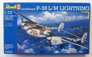 REVELL 1/72 04293 LOCKHEED P-38L/M LIGHTNING