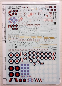 XTRADECAL 1/48 48057 RAF ROUNDELS   DATA FOR HAWKS JAGUARS TORNADOS   HARRIERS