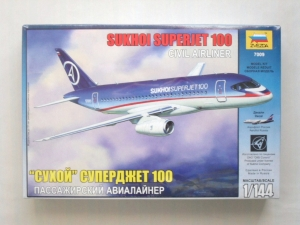 ZVEZDA 1/144 7009 SUKHOI SUPERJET 100 CIVIL AIRLINER