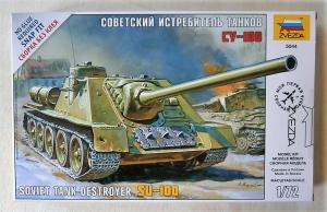 ZVEZDA 1/72 5044 SU-100 SOVIET TANK DESTROYER