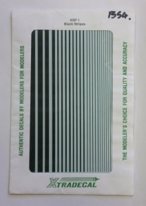 XTRADECAL  1354. XSP 1 BLACK STRIPES 4 SHEETS