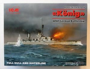 ICM 1/700 S.014 WWI GERMAN BATTLESHIP KONIG