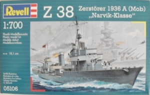 REVELL 1/700 05106 Z-38 ZERSTORER 1936 A  MOB  NARVIK
