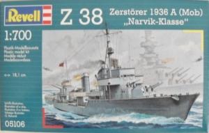 REVELL 1/700 05106 Z-38 ZERSTORER 1936 A  MOB  NARVIK
