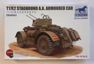 BRONCO 1/48 48002 T17E2 STAGHOUND AA ARMOURED CAR