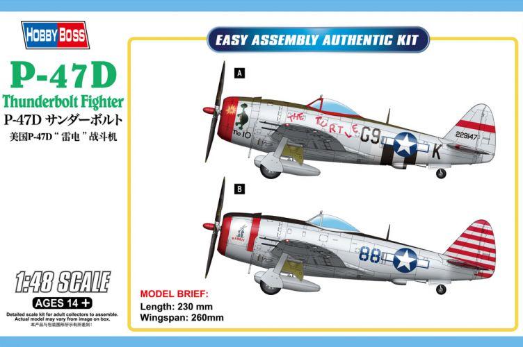 HOBBYBOSS 1/48 85811 P-47D THUNDERBOLT FIGHTER