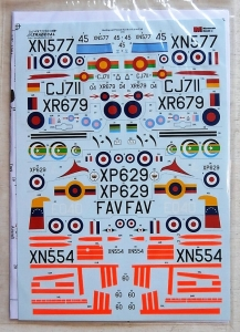 XTRADECAL 1/72 72250 HUNTING JET PROVOST T.3/T.4/T.51/T.52