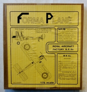 FORMAPLANE 1/72 19 ROYAL AIRCRAFT FACTORY B.E.2C