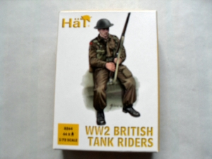 HAT INDUSTRIES 1/72 8264 WW2 BRITISH TANK RIDERS