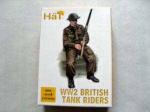 HAT INDUSTRIES 1/72 8264 WW2 BRITISH TANK RIDERS