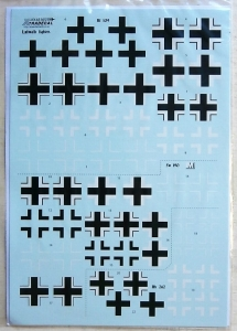 XTRADECAL 1/48 48165 LUFTWAFFE FIGHTER CROSSES B f109 fw 190 Me 262