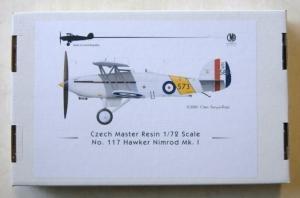 CZECH MASTER RESIN 1/72 117 HAWKER NIMROD Mk.I
