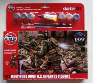 AIRFIX 1/32 55212 MULTIPOSE WWII U.S. INFANTRY FIGURES STARTER SET