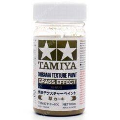 TAMIYA  87117 DIORAMA TEXTURE PAINT GRASS EFFECT KHAKI 100ML  UK SALE ONLY