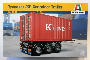 ITALERI 1/24 3887 TECHNOKAR 20 FOOT CONTAINER TRAILER