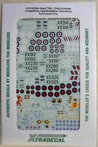 XTRADECAL 1/72 72166 BAe HAWK T.Mk.I EARLY SCHEMES