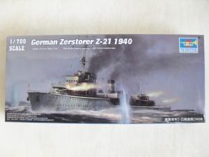 TRUMPETER 1/700 05792 GERMAN ZERSTORER Z-21 1940