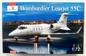 A MODEL 1/72 72348 BOMBARDIER LEARJET 55C