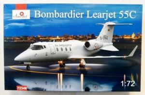A MODEL 1/72 72348 BOMBARDIER LEARJET 55C