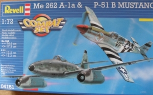 REVELL 1/72 04151 Me 262 A-1a   P-51B MUSTANG