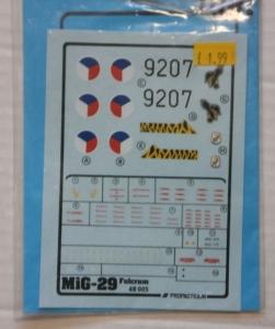 1/48 1119. PROPACTEAM 48005 MIG-29 FULCRUM