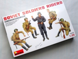 MINIART 1/35 35055 SOVIET SOLDIERS RIDERS