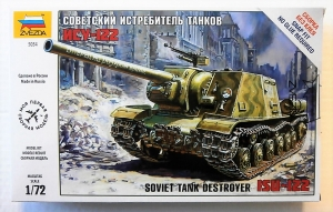 Zvezda 5054-1//72 WWII Soviet Tank Destroyer Isu-122 Neu