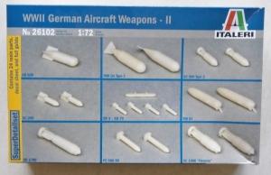 ITALERI 1/72 26102 WWII GERMAN AIRCRAFT WEAPONS II