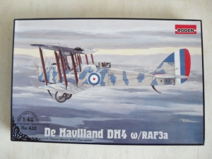 RODEN 1/48 432 de HAVILLAND D.H.4 WITH RAF3a