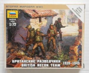 ZVEZDA 1/100 6226 BRITISH RECON TEAM 1939-1945