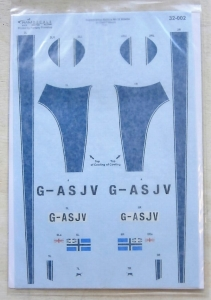 RAM DECALS 1/32 32-002 SUPERMARINE SPITFIRE Mk.IX MH434 IN CIVIL SERVICE