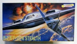 DRAGON 1/200 2007 B-2   F-117A STEALTH