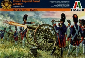 ITALERI 1/72 6135 FRENCH IMPERIAL GUARD ARTILLERY
