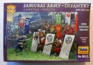 ZVEZDA 1/72 8017 SAMURAI ARMY INFANTRY XVI-XVII AD