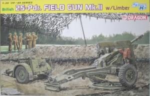 DRAGON 1/35 6774 BRITISH 25pdr. FIELD GUN Mk.II w/LIMBER