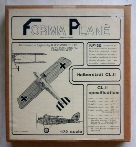 FORMAPLANE 1/72 20 HALBERSTADT CL.II