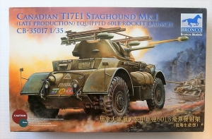 BRONCO 1/35 35017 CANADIAN T17E1 STAGHOUND Mk.I  LATE PRODUCTION
