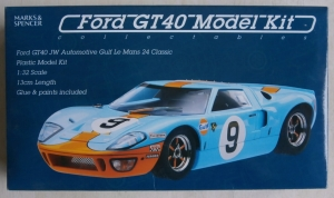 MARKS AND SPENCER 1/32 FORD GT40 JW AUTOMOTIVE GULF LE MANS 24 CLASSIC