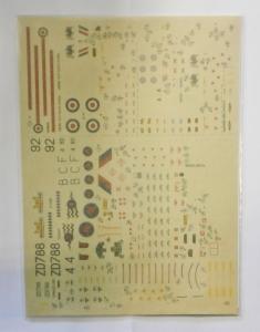 MODELDECAL 1/72 1038. 80 RAF TORNADO GR1 HAWK T1A HAWK T1