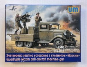 UNIMODEL 1/48 511 QUADRUPLE MAXIM ANTI-AIRCRAFT MACHINE GUN