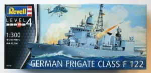 REVELL 1/300 05143 GERMAN FRIGATE CLASS F 122