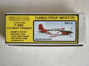 ESOTERIC 1/72 NAV-4 TURBO-PROP MENTOR T-34C US NAVY TRAINER