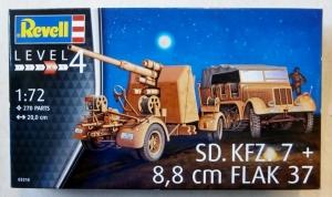 REVELL 1/72 03210 Sd.Kfz.7   8.8cm FLAK 37