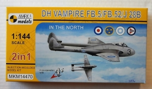 MARK I MODELS 1/144 14470 DH VAMPIRE FB.5/FB.52/J 28B