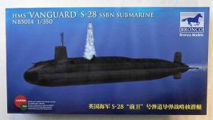 BRONCO 1/350 5014 HMS VANGUARD S-28 SSBN SUBMARINE