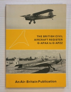 CHEAP BOOKS  ZB693 THE BRITISH CIVIL AIRCRAFT REGISTER G-APAA TO G-APZZ