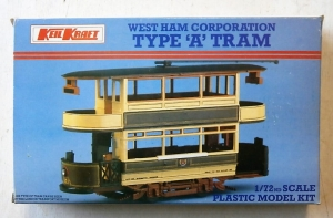 KEILCRAFT 1/72 K307 WEST HAM CORPORATION TYPE A TRAM
