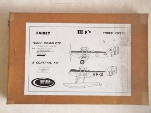 CONTRAIL 1/72 FAIREY III F - THREE KITS