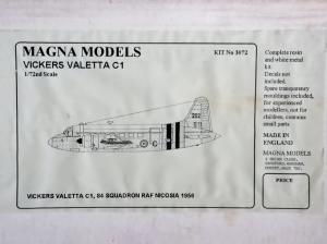 MAGNA 1/72 3072 VICKERS VALETTA C1
